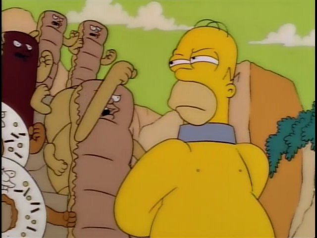 Homer Simpson You Stand Accused Of Eating Half The Population Of