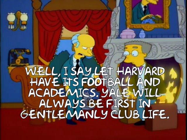 Frinkiac S08e04 Well I Say Let Harvard Have Its Football And